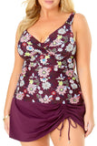Anne Cole Plus - In Full Bloom Underwire Tankini Top Multi 3