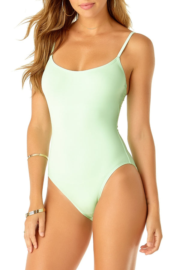 Studio Anne Cole - Vintage Maillot One Piece Green 1