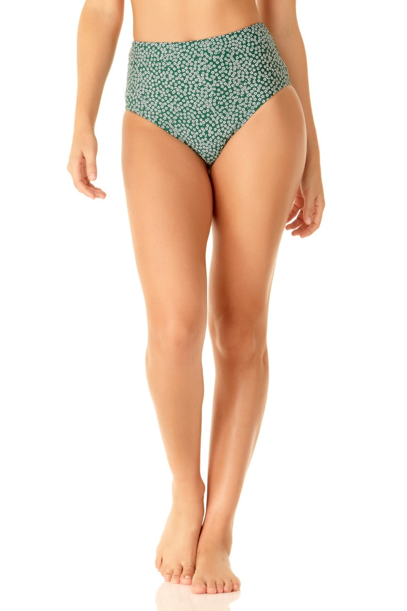 Studio Anne Cole - Days Eye Ditsy High Waisted Tie Back Bottom