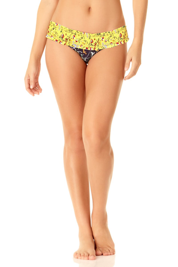 Studio Anne Cole - Smocked Bikini Bottom Yellow 1