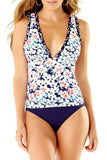 Studio Anne Cole - Lettuce Triangle Tankini Top White 1