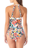 Anne Cole - High Neck With Ruffle Straps One Piece Swimsuit