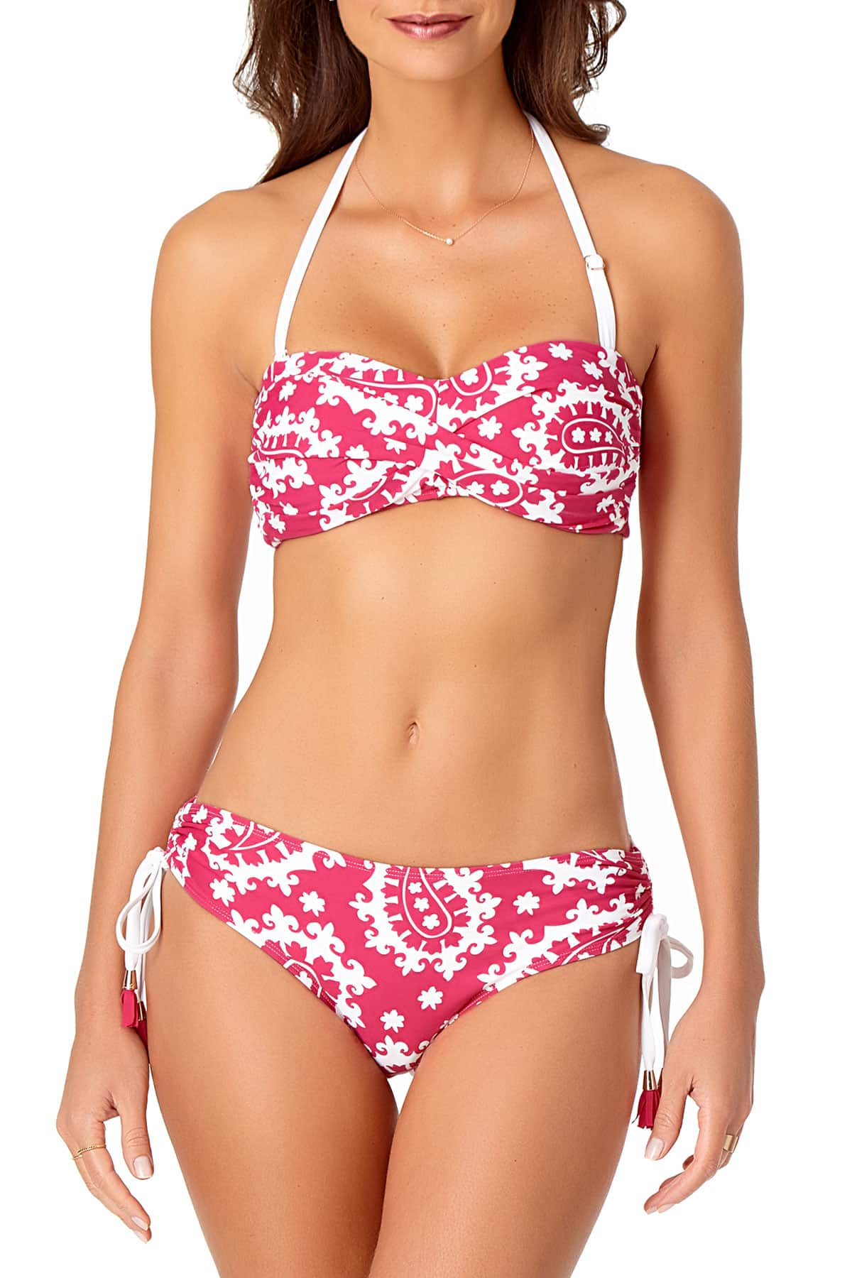 Anne Cole - Twist Front Laceup Bandeau Swim Top