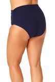 Anne Cole Plus - Convertible Shirred High Low Swim Bottom