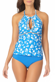 Anne Cole - High Neck Keyhole Halter Tankini Top