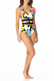 Anne Cole - Mesh Over the Shoulder One Piece Swimsuit