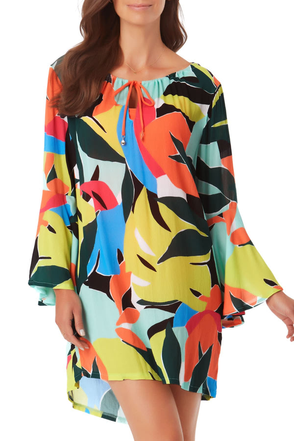 Anne Cole - Bell Sleeve Tunic Cover Up