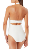 Anne Cole - Textured Halter Band One Piece Swimsuit