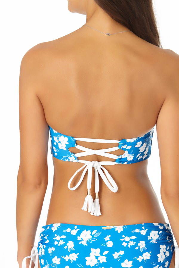 Anne Cole - Twist Front Lace Back Bandeau Bikini Top