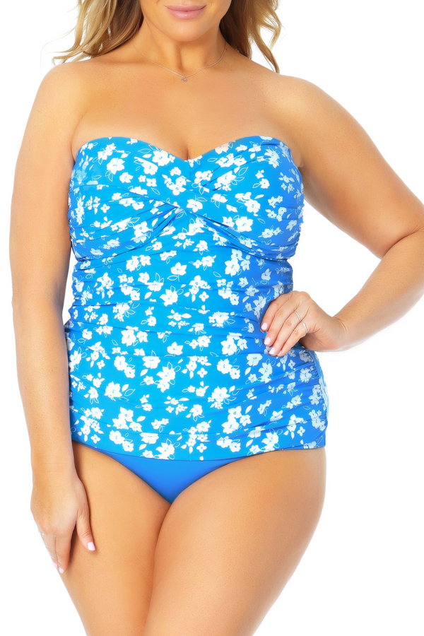 Anne Cole Plus - Twist Front Bandeaukini Swim Top