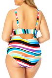 Anne Cole Plus - Over The Shoulder V Neck One Piece Swimsuit