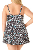 Anne Cole Plus - Floral Shirred Underwire Swimdress