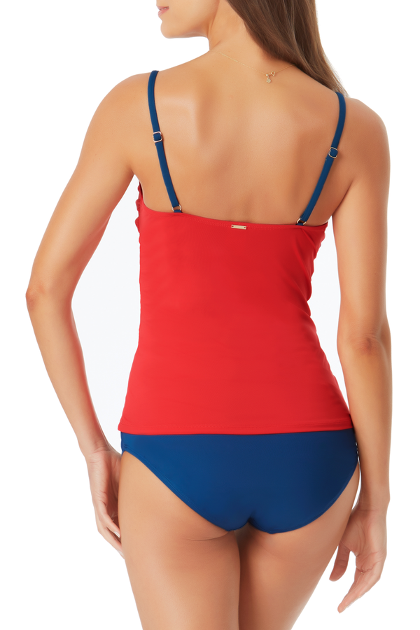 Anne Cole - Colorblock Lingerie Tankini Top