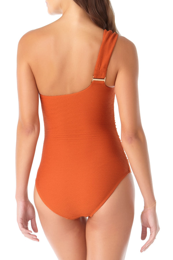 Anne Cole - One Shoulder Twist One Piece Swimsuit