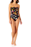 Anne Cole - Twist Front Shirred One Piece Swimsuit