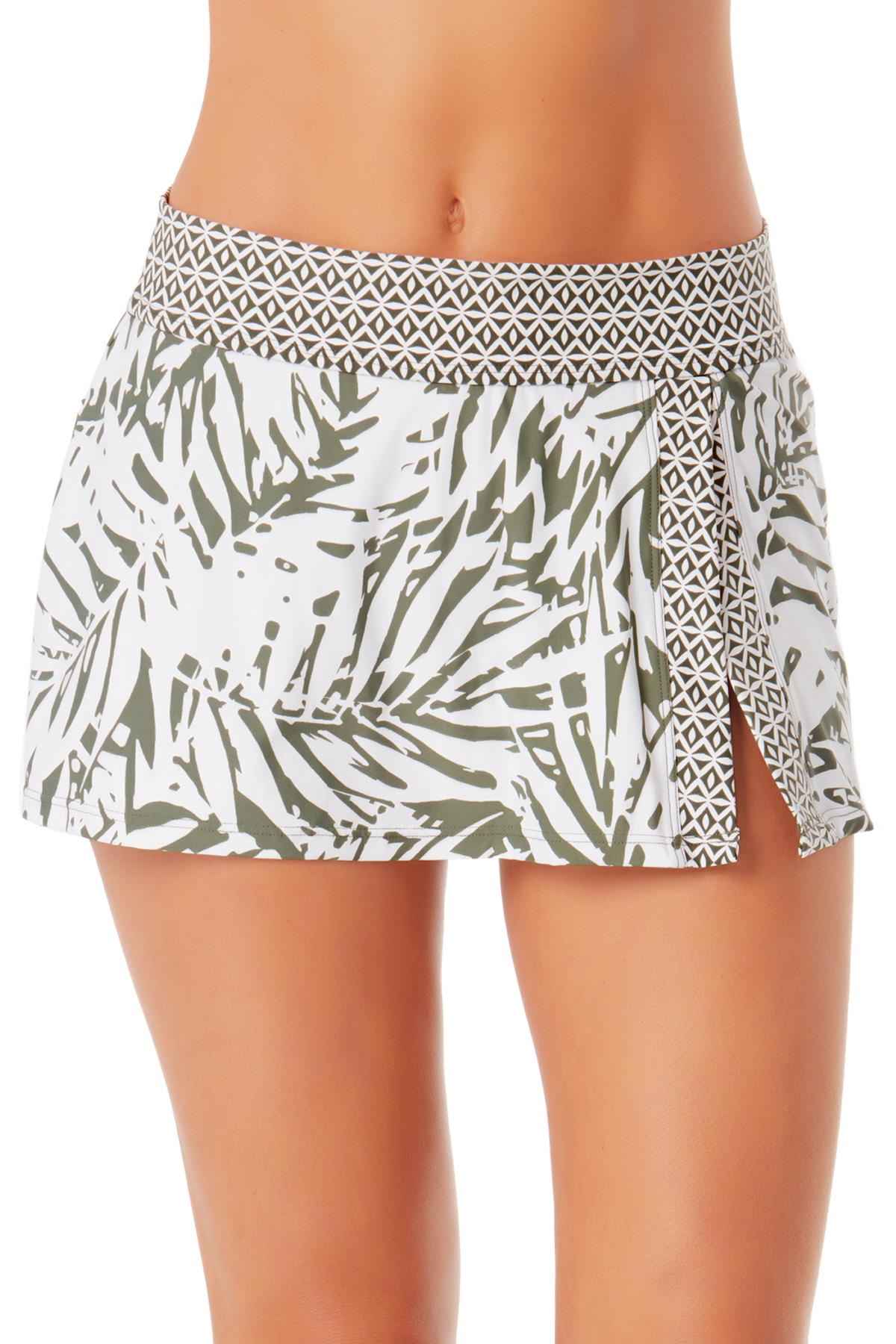 Anne Cole - Banded Side Slit Skirted Bottom