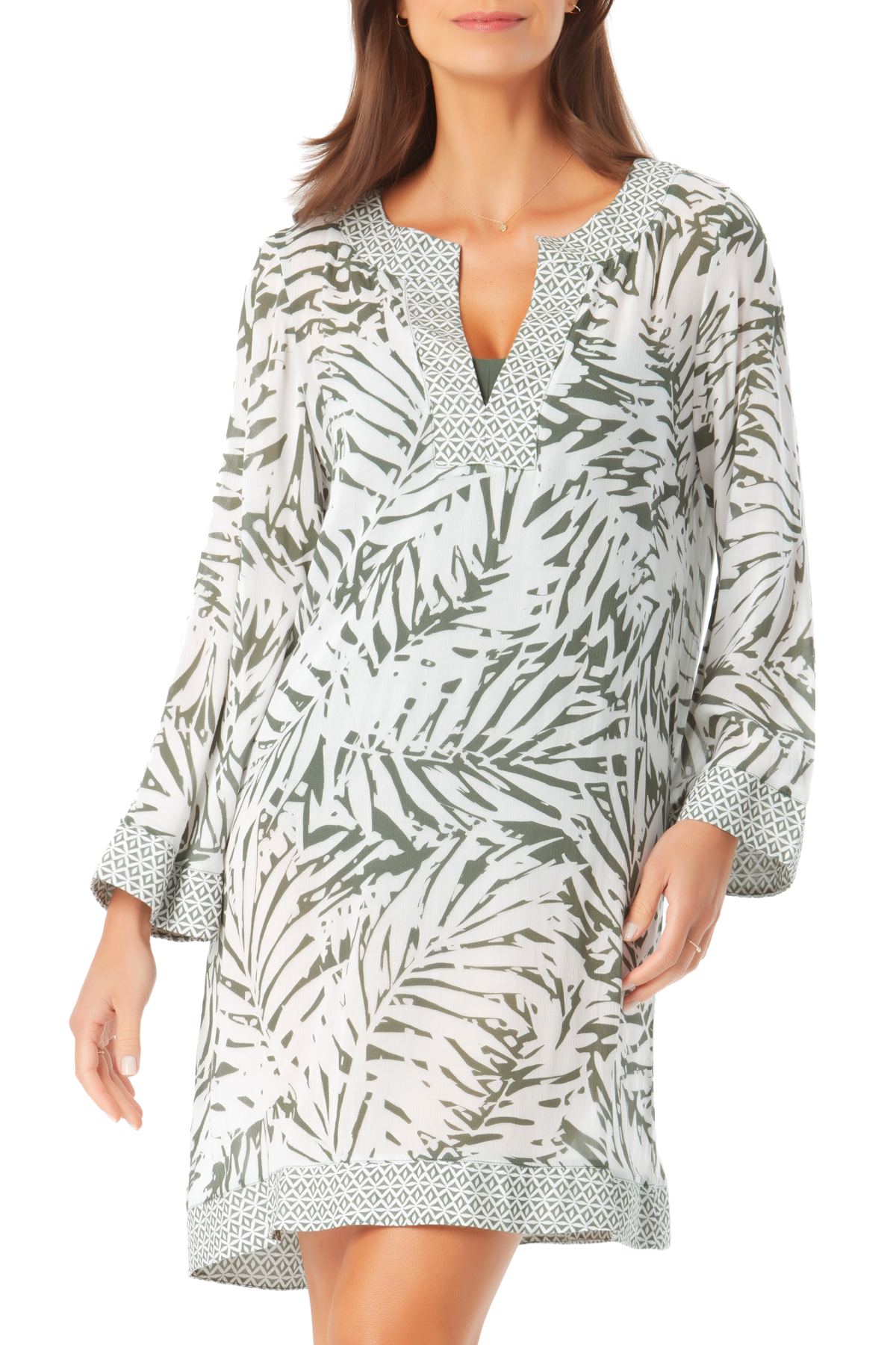 Anne Cole - Contrast Band Tunic Cover Up