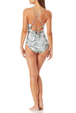Anne Cole - Lace Back Shirred Lingerie Maillot One Piece Swimsuit
