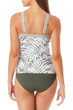 Anne Cole -  Center Front Keyhole Halter Tankini Top