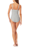 Anne Cole - Straight Neck Contour One Piece Swimsuit