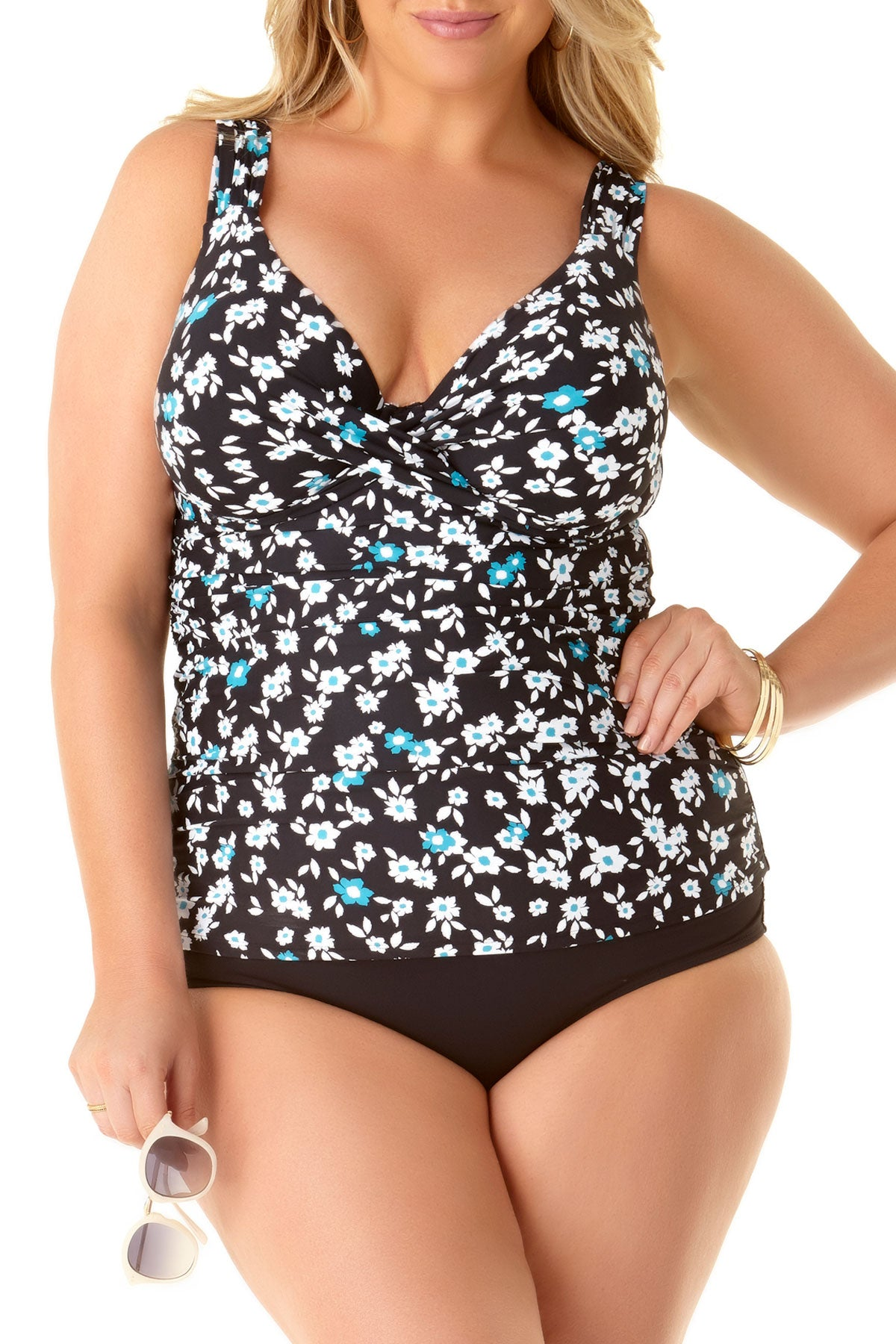 Anne Cole Plus - Underwire Twist Front Tankini Swim Top