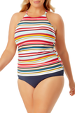 Anne Cole Plus - High Neck Tankini Top