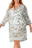 Anne Cole Plus - Contrast Band Tunic Cover Up