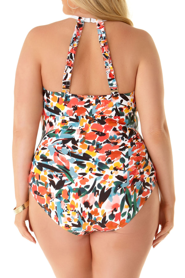 Anne Cole Plus - High Neck One Piece Swimsuit
