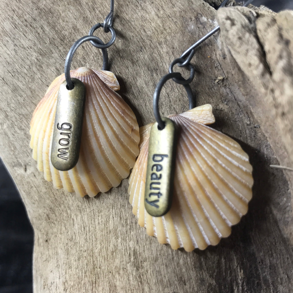Beauty and Grow Seashell Earrings