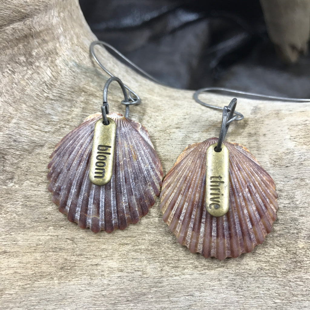 Bloom and Thrive Seashell Earrings