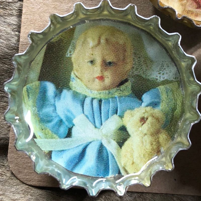 Porcelain Doll Magnet Set