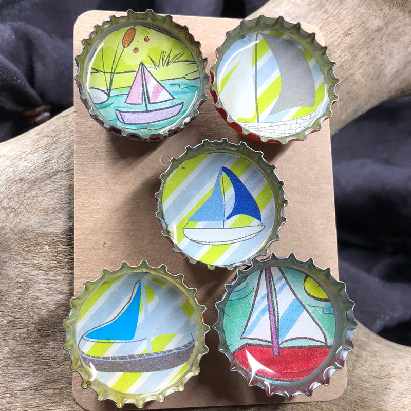 Sailboat Magnet Set