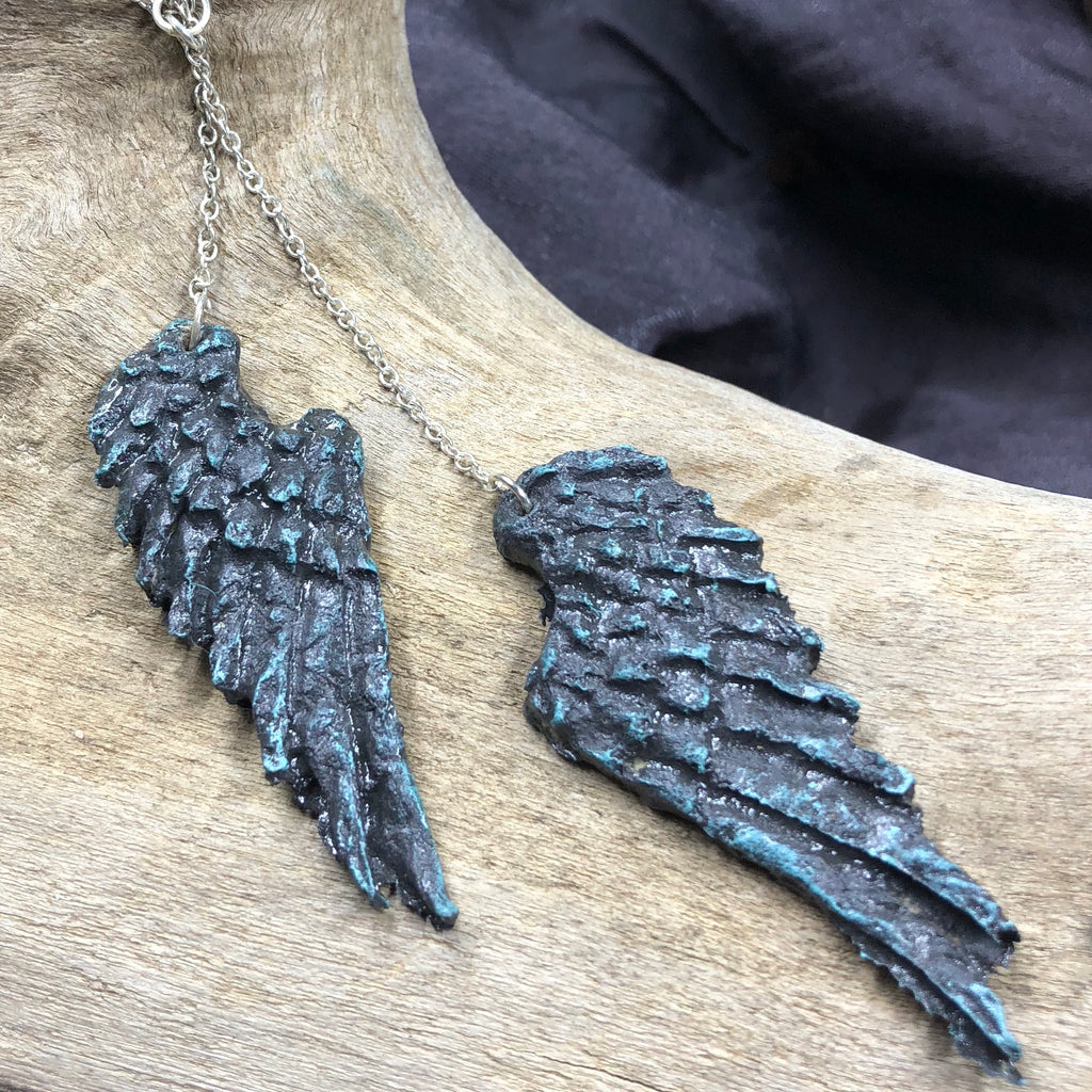 Junk Mail Angel Wings Necklace
