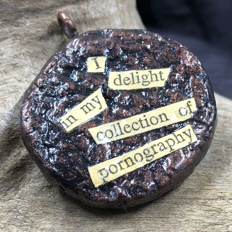 """Pornography Collection"" Potty Mouth Pendant"