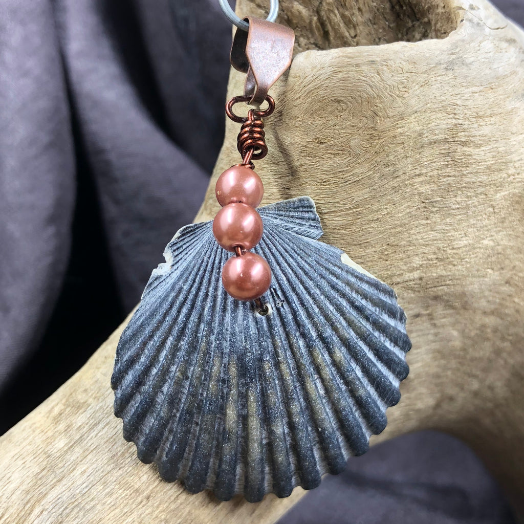 Pearl and Seashell Pendant
