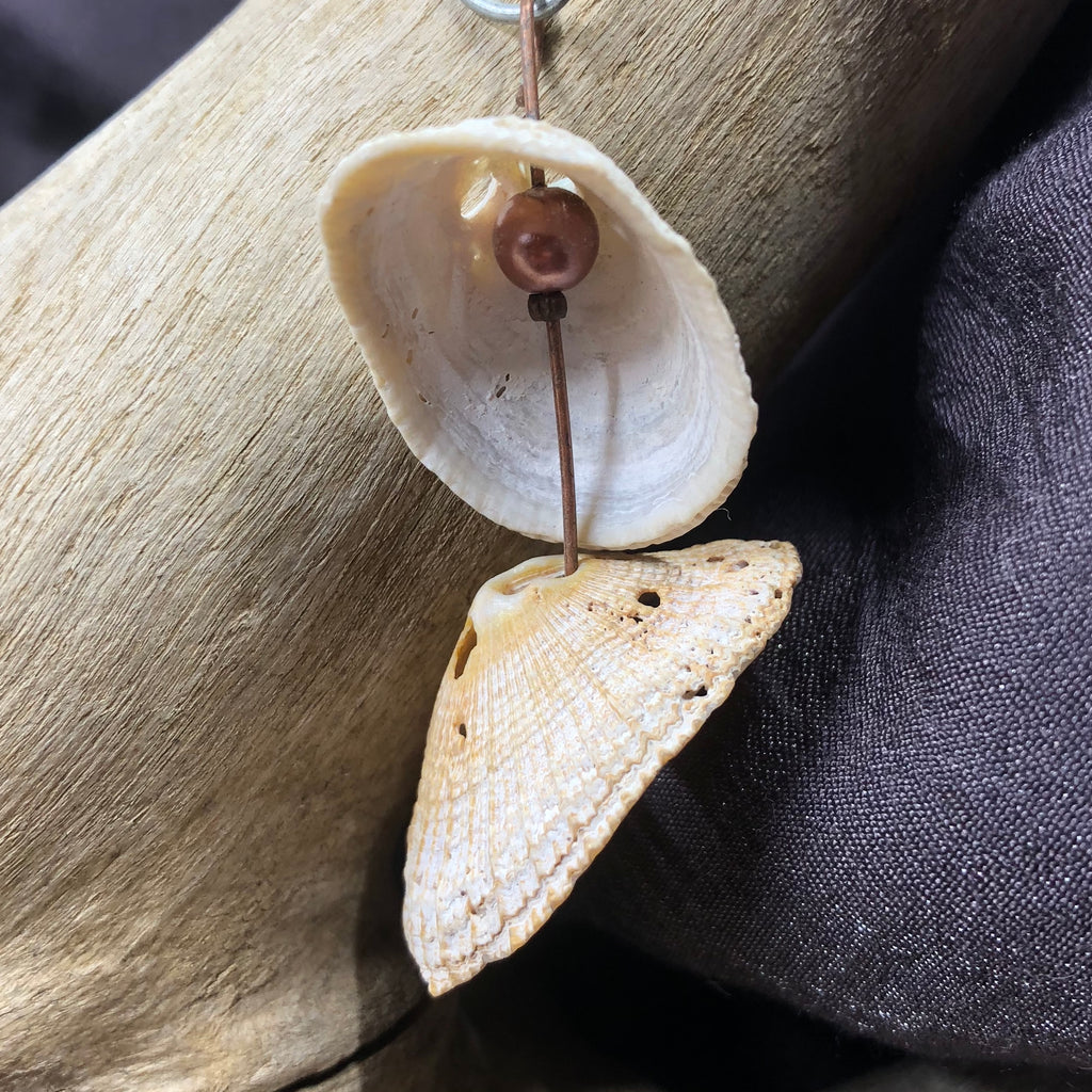 Dangling Duo Seashell Pendant