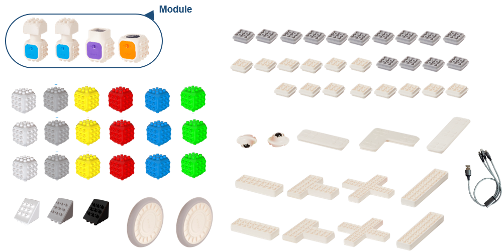 Cubroid Coding Blocks - Mini Robotics Kit