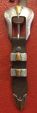 Gold Western Engraved Buckle