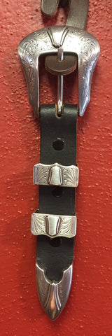 Silver Western Engraved Buckle