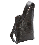 Ropin West Crossbody Organizer Bag in Brown - Rear