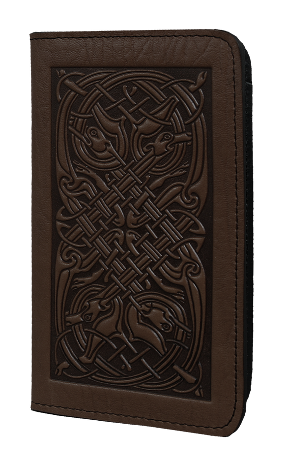 Oberon Celtic Hounds Smartphone Wallet in Chocolate