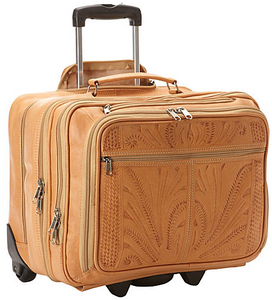 Ropin West Expandable Roller Briefcase in Brown