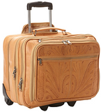 Ropin West Expandable Roller Briefcase in Natural
