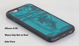 Oberon Water Lily Koi iPhone Case in Teal