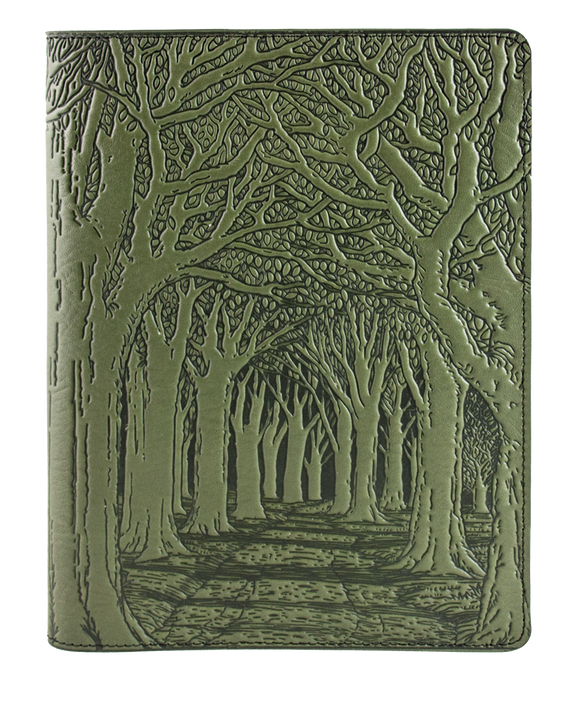 Oberon Avenue of Trees Composition Notebook Cover in Fern