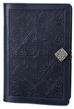 Oberon Celtic Diamond Refillable Journal Cover in Navy