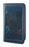 Oberon Hokusai Wave Smartphone Wallet in Navy