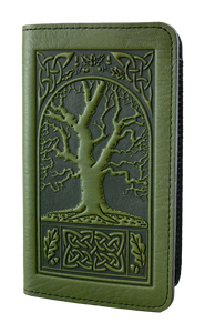 Oberon Celtic Oak Checkbook Cover in Fern
