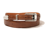 Chacon Lizard Tapered Belt in Peanut