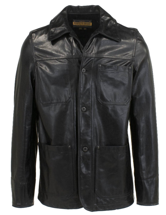 Informer - Men's Leather Unlined Chore Jacket